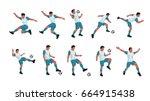 soccer player set | Shutterstock .eps vector #664915438