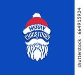 merry christmas  december 25 ... | Shutterstock .eps vector #664915924