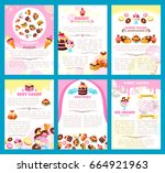 desserts and bakery shop... | Shutterstock .eps vector #664921963
