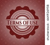 terms of use red emblem