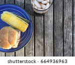 glass of soda with burger and... | Shutterstock . vector #664936963