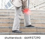 businessman holds on to the... | Shutterstock . vector #664937290