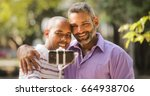 homosexual couple  gay people... | Shutterstock . vector #664938706