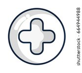 cross clinic symbol to... | Shutterstock .eps vector #664944988
