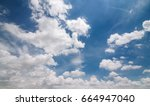 cloudy and blue sky nature... | Shutterstock . vector #664947040
