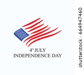 fourth of july. independence... | Shutterstock .eps vector #664947460