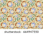 vintage raster ornament.... | Shutterstock . vector #664947550