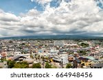 fujinomiya city at the foot of... | Shutterstock . vector #664948456
