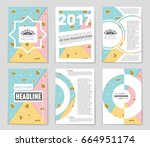 abstract vector layout... | Shutterstock .eps vector #664951174