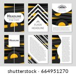 abstract vector layout... | Shutterstock .eps vector #664951270