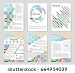 abstract vector layout... | Shutterstock .eps vector #664954039