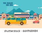 city landscape design template | Shutterstock .eps vector #664968484