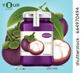 mangosteen bottle.vector | Shutterstock .eps vector #664970494