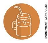 jar with juice fruit | Shutterstock .eps vector #664970830