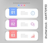 infographic template three...   Shutterstock .eps vector #664970950
