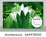 template cover of a copybook ...   Shutterstock .eps vector #664978450
