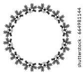 circular frame deoration floral | Shutterstock .eps vector #664981144