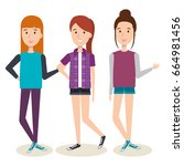 young people design | Shutterstock .eps vector #664981456