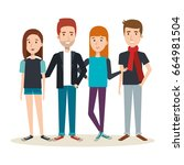 young people design   Shutterstock .eps vector #664981504