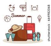 summer vacation design | Shutterstock .eps vector #664982068