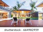 exterior design of spacious... | Shutterstock . vector #664982959