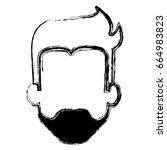 young man head avatar character | Shutterstock .eps vector #664983823