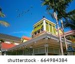 nassau streets on summer    Shutterstock . vector #664984384