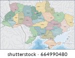 map of ukraine | Shutterstock .eps vector #664990480