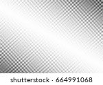 abstract halftone dotted... | Shutterstock .eps vector #664991068