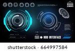 futuristic virtual graphic... | Shutterstock .eps vector #664997584