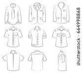 hand drawn shirt icons | Shutterstock .eps vector #664998868