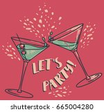 """let's party "" poster with two... 