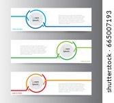 Stock vector abstract geometric vector web banner design background header templates design 665007193