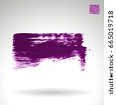 purple brush stroke and texture.... | Shutterstock .eps vector #665019718