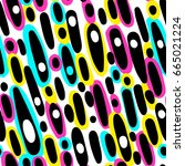 memphis style hand drawn... | Shutterstock .eps vector #665021224