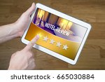 bad hotel review. disappointed... | Shutterstock . vector #665030884
