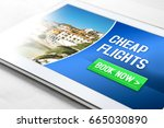 cheap flights for sale on... | Shutterstock . vector #665030890