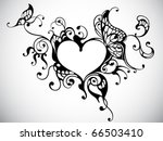 Vector Heart Frame With...