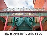central market main entrance... | Shutterstock . vector #665035660