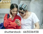 couples of asian younger man... | Shutterstock . vector #665036458