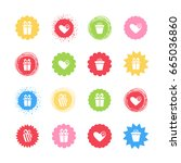 set of colorful modern vector... | Shutterstock .eps vector #665036860