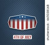 realistic 4th of july... | Shutterstock .eps vector #665038168