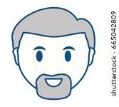 adult face cartoon | Shutterstock .eps vector #665042809