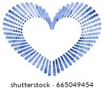 heart shaped mosaic frame with... | Shutterstock .eps vector #665049454