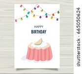 happy birthday card template. | Shutterstock .eps vector #665050624