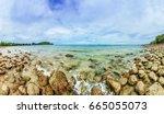 panorama rock beach at southen...   Shutterstock . vector #665055073