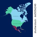 map of north america. vector... | Shutterstock .eps vector #665056240