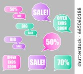 sale tags  flat design | Shutterstock .eps vector #665060188