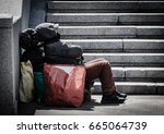 Homeless Man With All His...