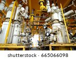 wellhead platform for operation ... | Shutterstock . vector #665066098